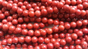 Punane korall 12 mm (segatud resiniga)