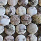 Valge ahhaat (White Crazy Agate) 30-40 mm